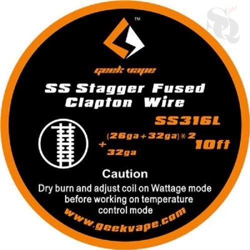 Geekvape SS Stagger Fused Clapton Wire SS316L