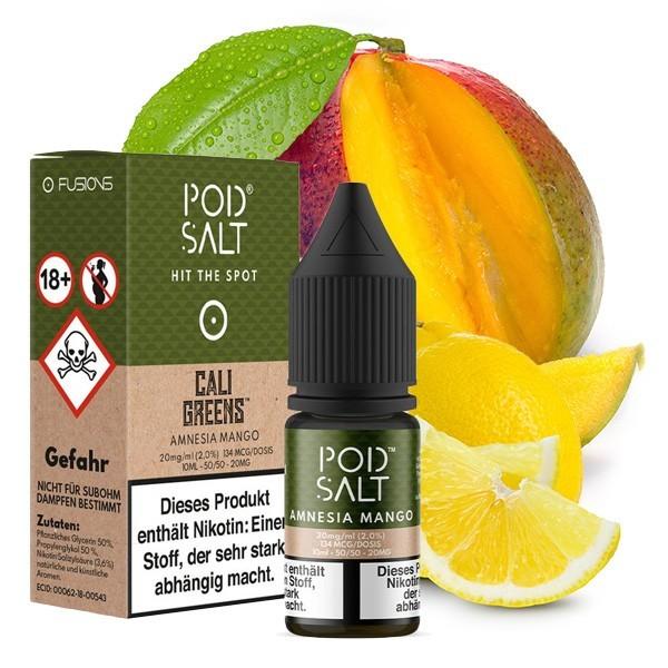 Pod Salt Amnesia Mango Nikotinsalz Liquid 10ml 20mg